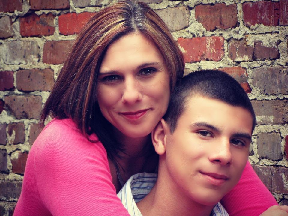 Mother, Son, People, Family, Hug, Portrait