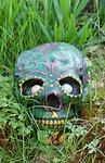 skull, garden, halloween
