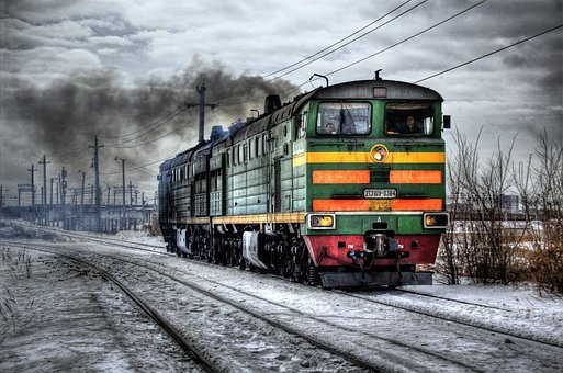 Locomotive, Diesel, Russia, Train