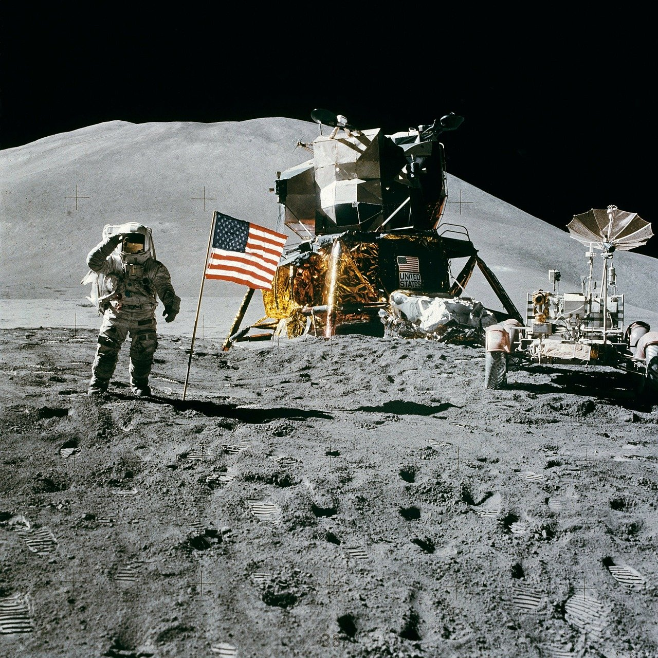 The first men on the moon - some of the worlds greatest pioneers.
