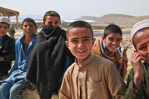 子供, かわいい, アフガニスタン, 人, 興味深い, 少し, 若いです
