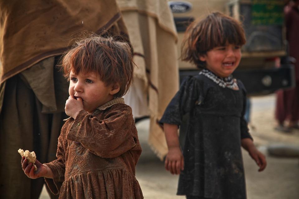 Dzieci, Płacz, Jedzenie, Słaby, Przestraszony, Strach