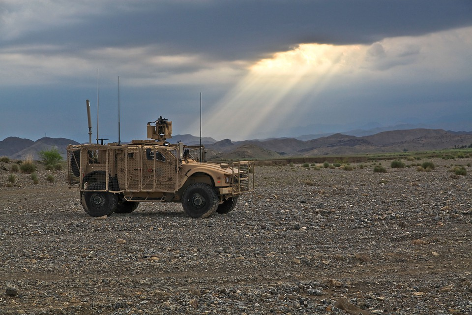 Jeep, Vehicle, Military, Tank, Heavy Weather, Rainy
