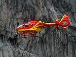 rescue helicopter, colours, red