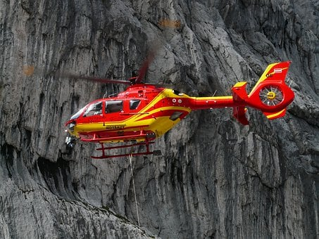 Rescue Helicopter, Colours, Red, Yellow