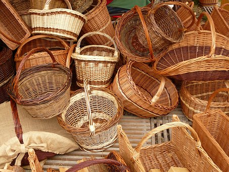 Wicker, Baskets, Weave, Willow