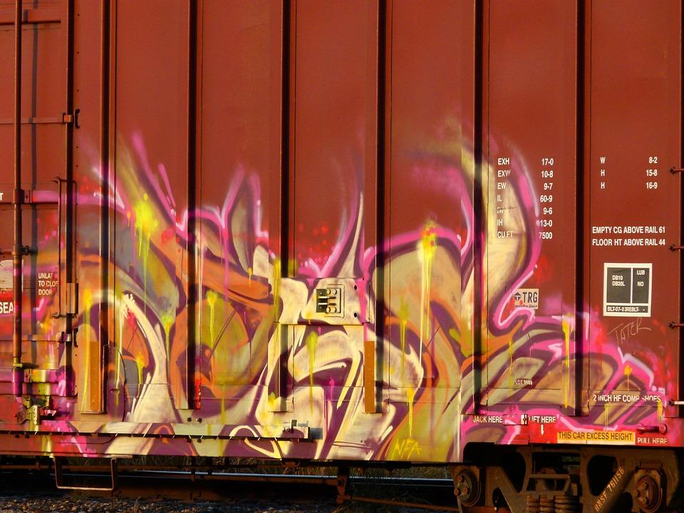 Grafiti Renkli Sanat Tren Pixabay De Ucretsiz Fotograf