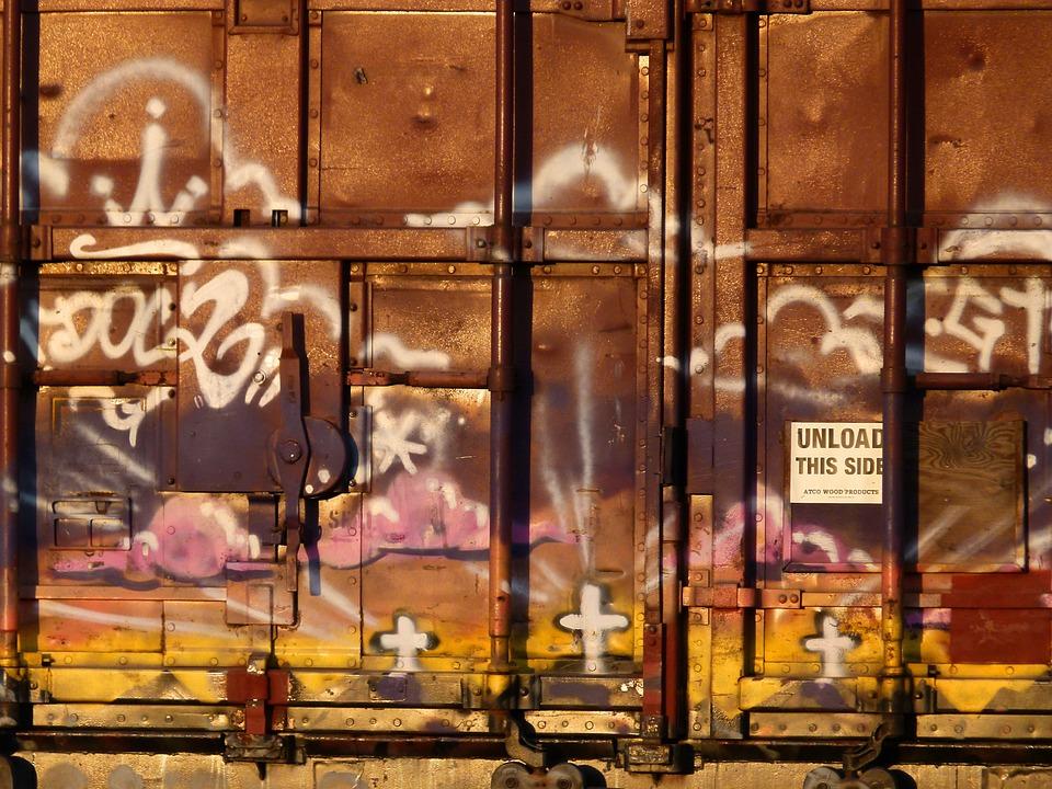 Grafiti Sanat Renkli Tren Pixabay De Ucretsiz Fotograf