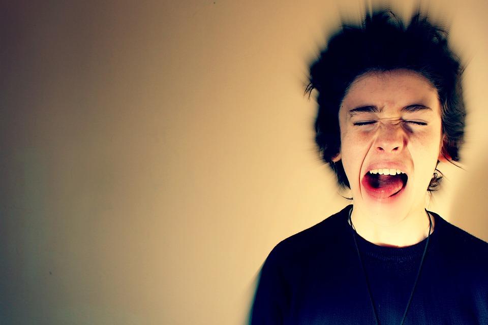 Krzyk, Powiększ, Efekt, Stres, Zły, Zgiełku