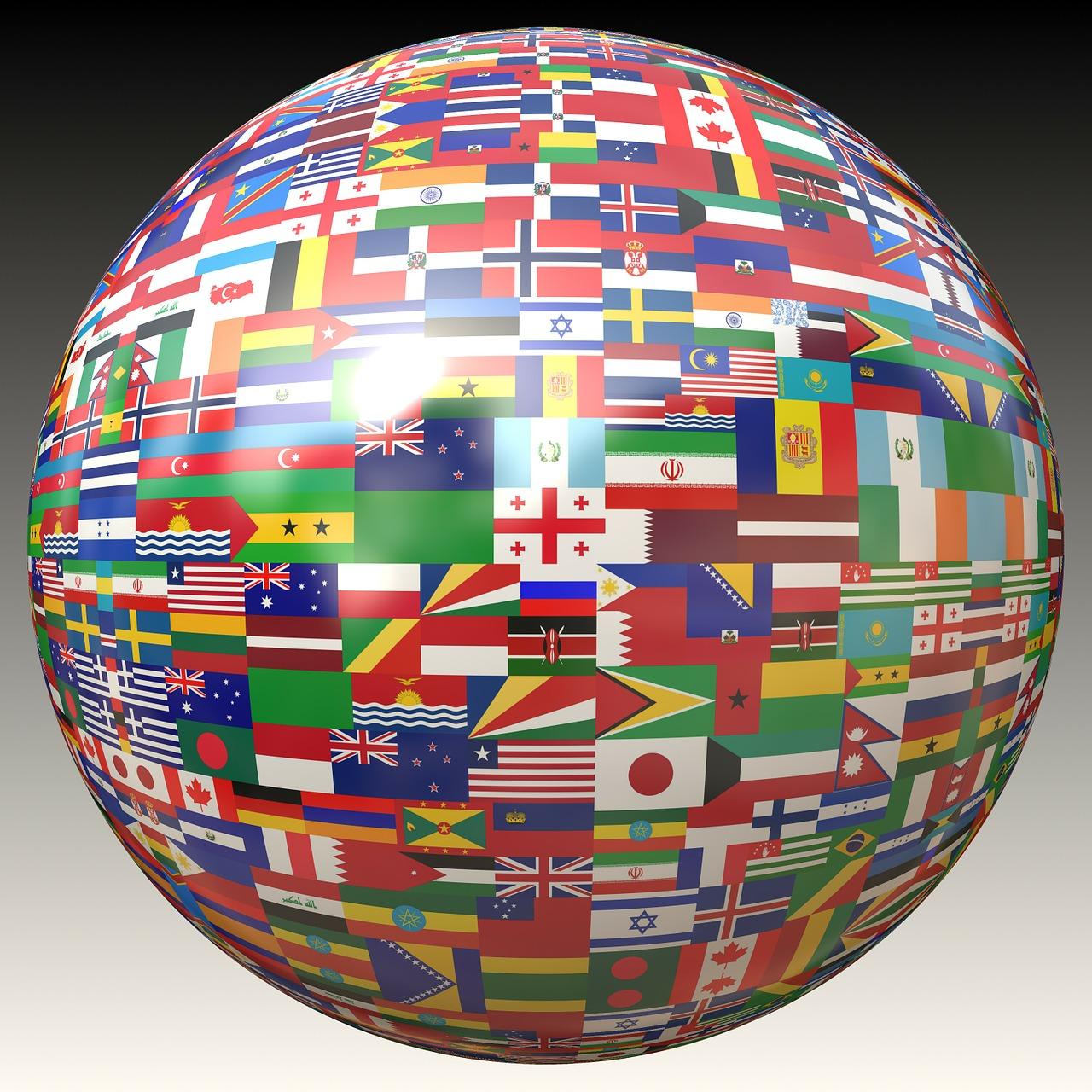 Картинка земного шара в флагах