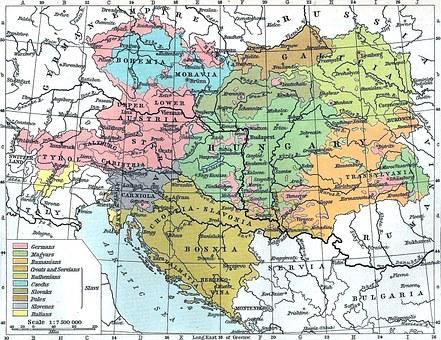 Map Austria Hungary Bosnia Yugoslavia Bree