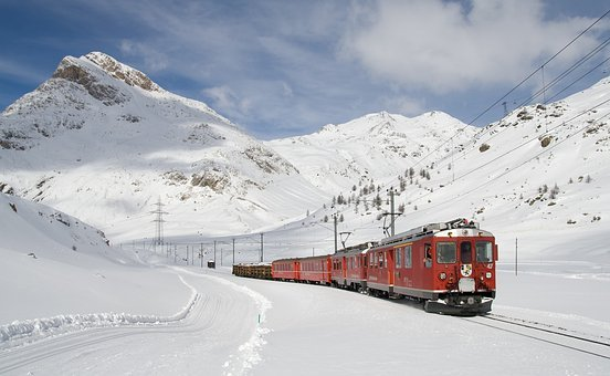Railway Bernina Railway Lagalb Bernina Win