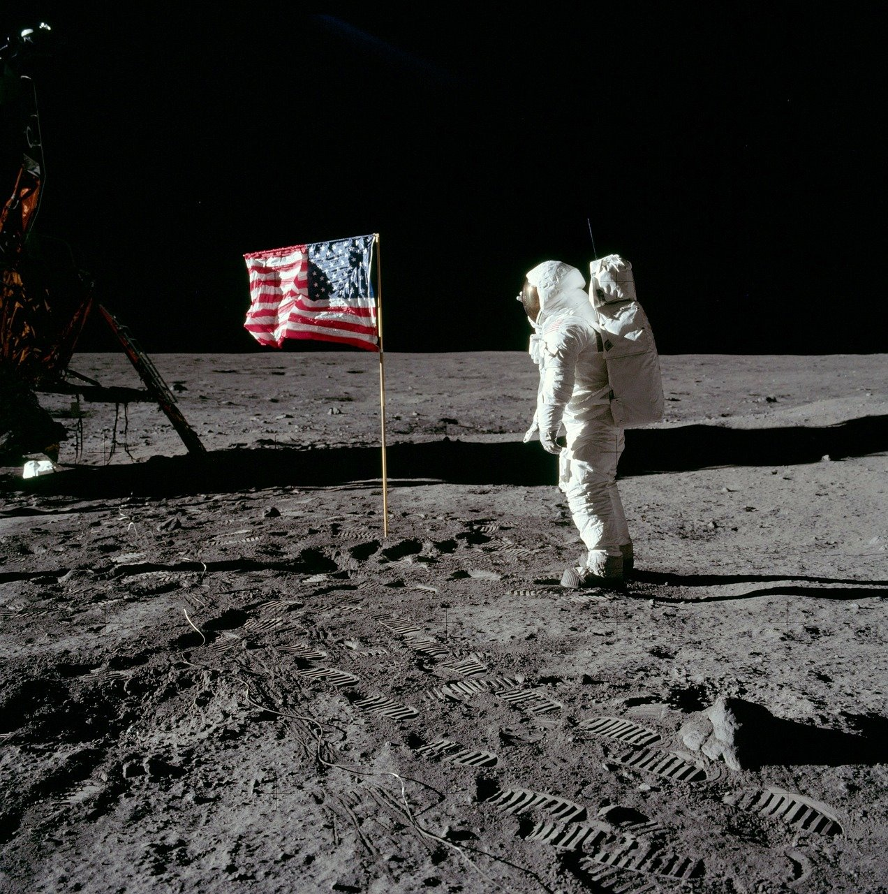 Moon Landing Buzz Aldrin America - Free photo on Pixabay