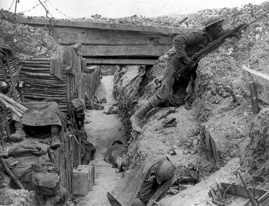 the life of soldiers being in front of the line trench Soldiers rotated into and out of the front lines to provide a break from the stress of combat they spent four to six days in the front trenches before moving back and spending an equal number of days in the secondary and, finally, the reserve trenches.