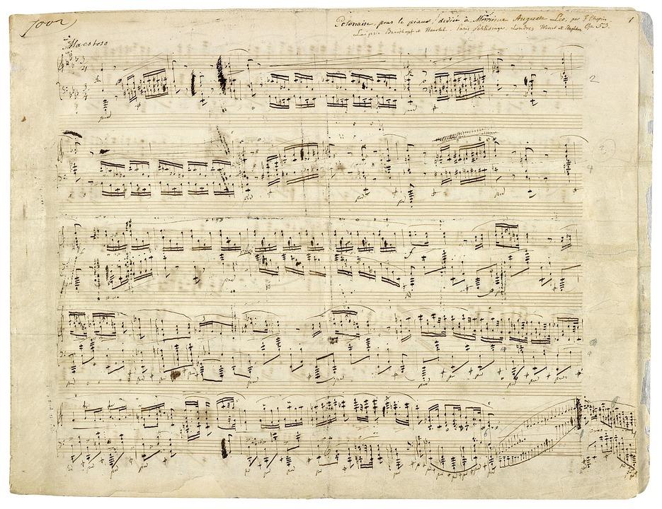Briefe Von Chopin : Chopin noten musik · kostenloses foto auf pixabay