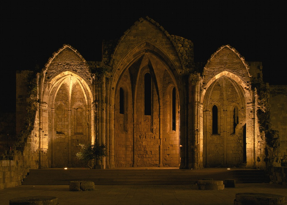 Gothic Church Archway Pointed Arches Castle