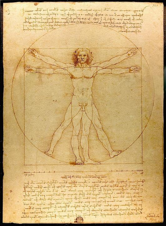 Mensch, Leonardo Da Vinci, Der Vitruvianische Mensch