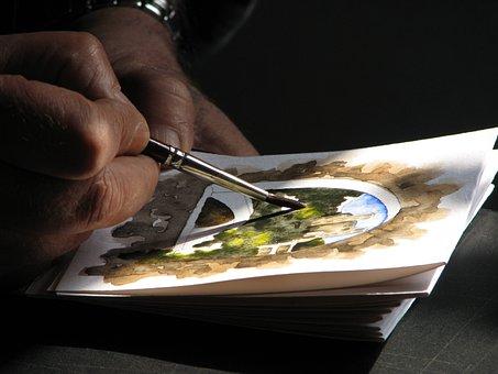 Watercolor Painter Artists Art Paint Draw