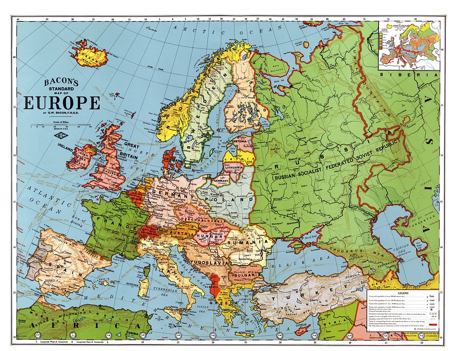 europe map 1923 country breakdown country borders