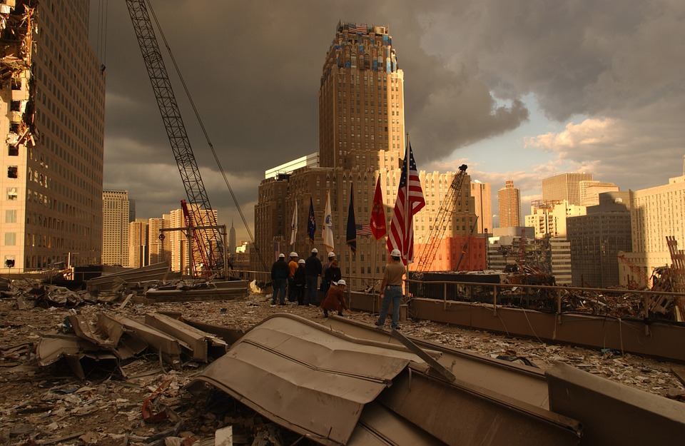 Dégât du 11 septembre 2001.   Photo : Pixabay
