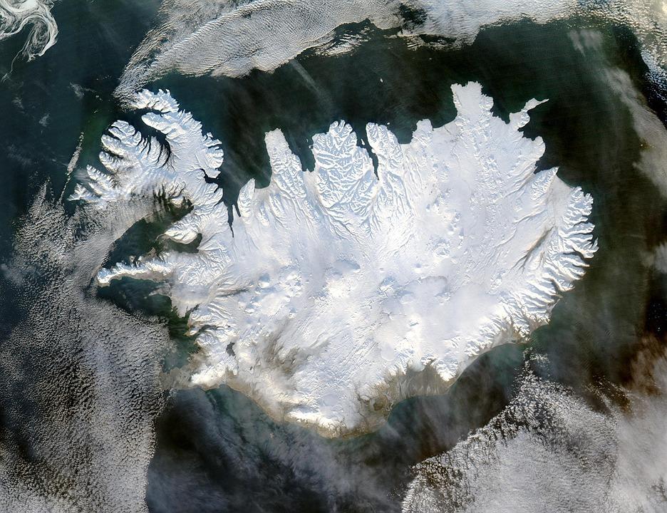 Islandia, Invierno, Casquete Polar, Hielos Eternos