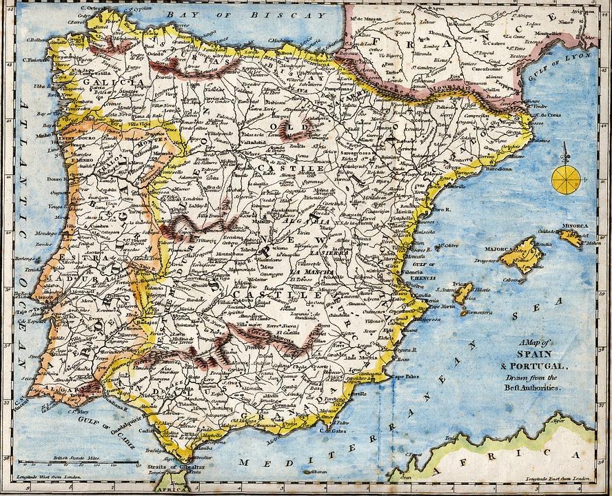 Karta Italien Spanien.Spanien Portugal Medelhavet Gratis Bilder Pa Pixabay