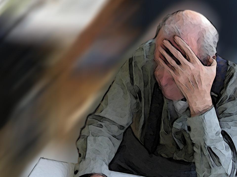 Casa, Demenza, Donna, Vecchio, Età, Morbo Di Alzheimer