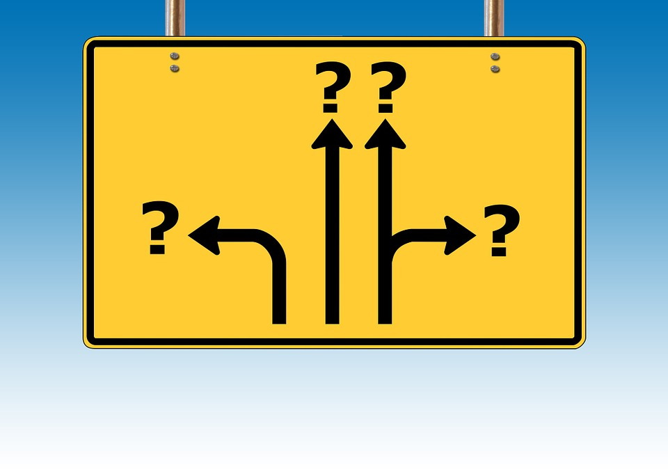 ビルボード, 交通標識, 方向, 矢印, オフ, 疑問符, 質問, 要求, 問題, リクエスト, 応答