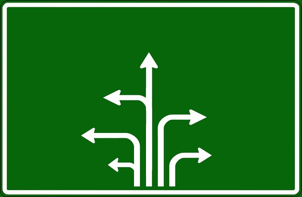 road sign arrows arrow free image on pixabay