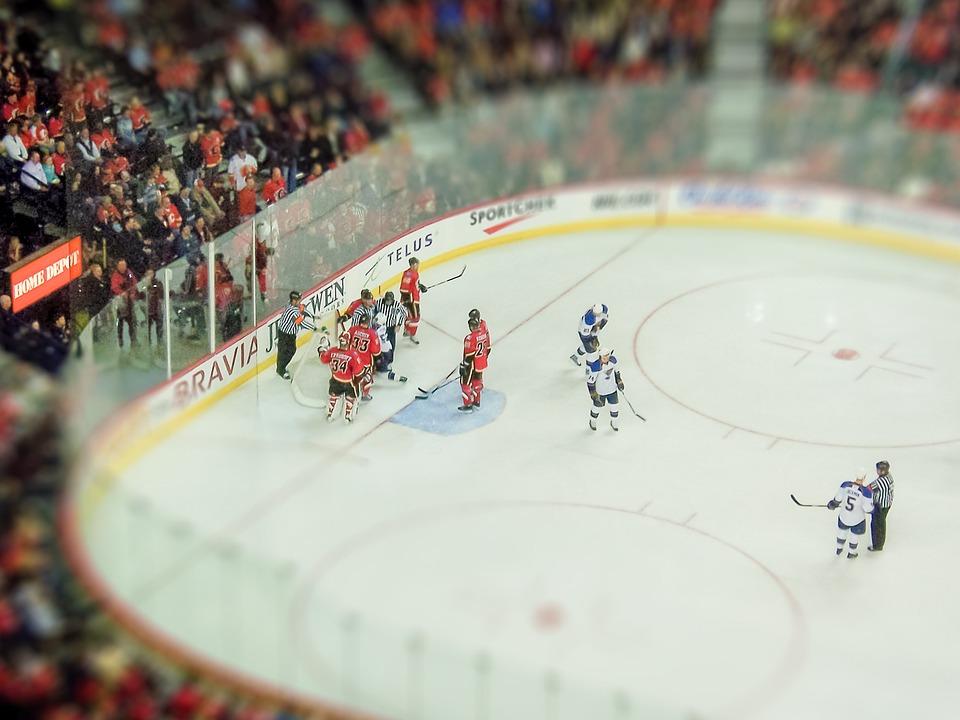 Eishockey, Stadion, Sport, Calgary, Kanada, Menschen