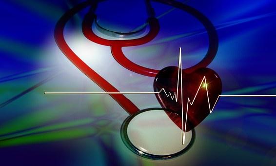 Stestoskop, 心, 曲線, コース, 広告, 医師, 改善, 血圧