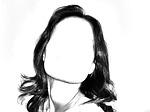 woman, face, contour