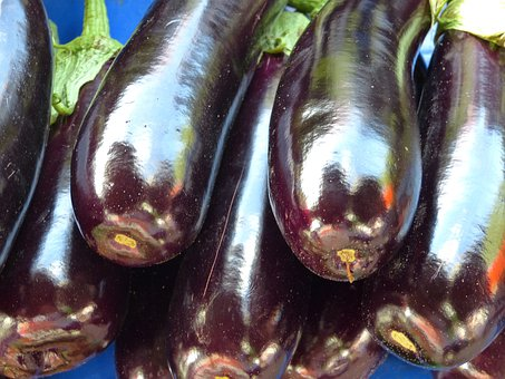 Eggplant, Dark, Vegetables, Food