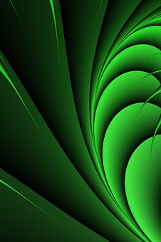 Green, Line, Lines, Background, Movement