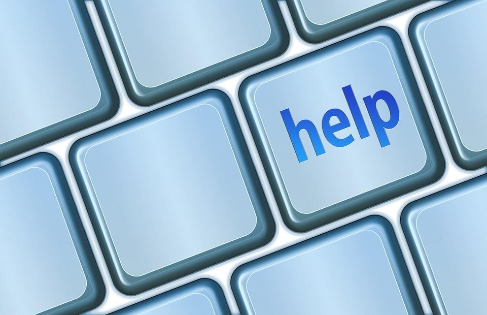Help Button, Keyboard, Button, Help, Computer, Support