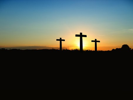 Cross, Sunset, Sunrise, Hill, Sky, Sun