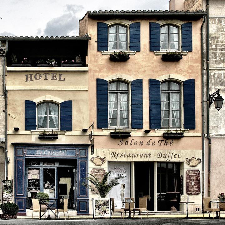Gebäude, Haus, Geschäfte, Hotel, Straße, Cafe, Provence