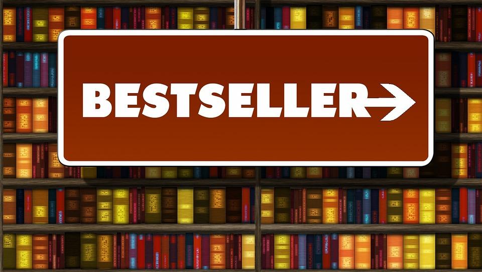 Terlaris, Best Seller, Arah, Panah, Buku, Rak Buku