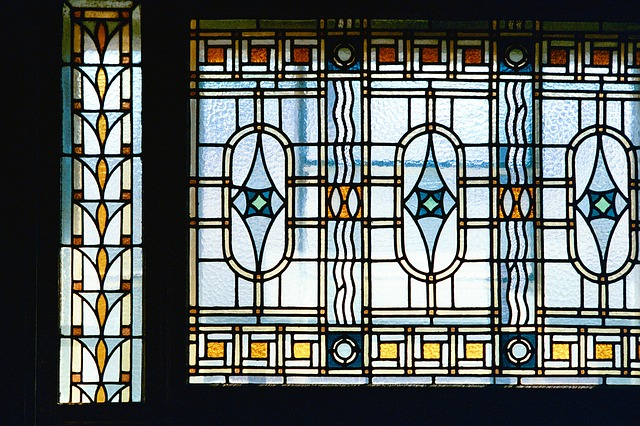 Free photo art nouveau window architecture free image for Art nouveau fenetre