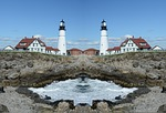 mirror image, lighthouse, effect