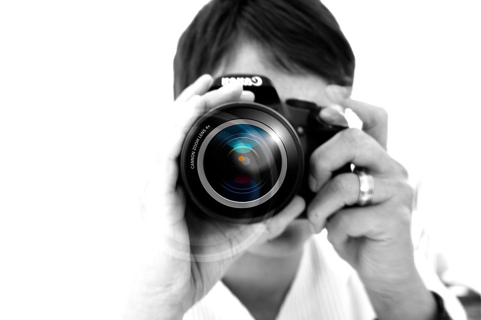 Photographer, Camera, Lens, Digital Camera, Focus