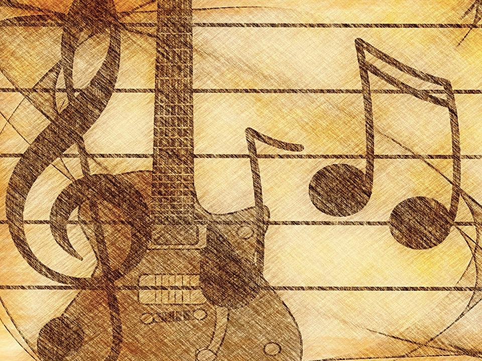 Música Guitarra Clave De Sol Imagen Gratis En Pixabay