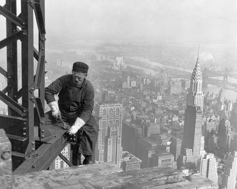 Bauarbeiter schwarz weiß  Kostenloses Foto: Wolkenkratzer, Arbeiter - Kostenloses Bild auf ...