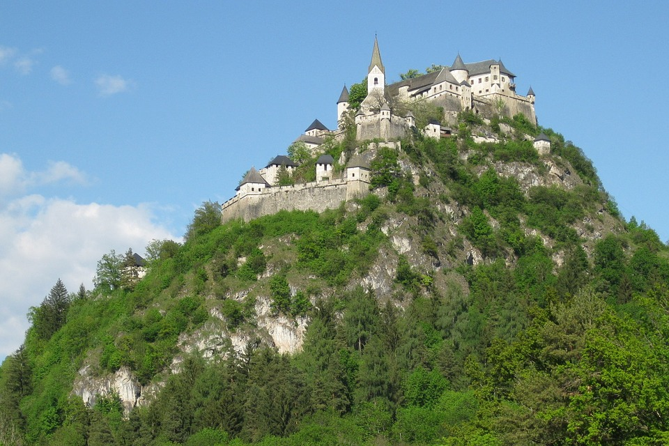 Castillo, Hochosterwitz, Fortaleza, Carintia, Austria