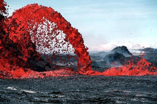 Lava Magma Volcanic Eruption Glow Hot Rock