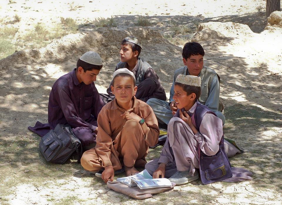 Boys, Schoolboys, Bamozai, Afghanistan, Muslims, Islam