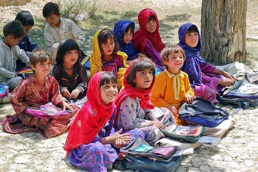 女の子, 女子高生, Schulem を学ぶ, アフガニスタン, イスラム教徒