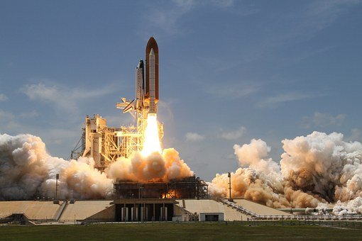 Rocket Launch Smoke Rocket Take Off Side V