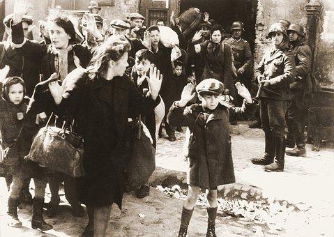 Ghetto, Warsaw, Fear, Child, Armed