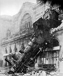 train wreck, steam locomotive, locomotive